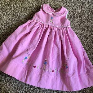 Strasburg Pink dress- embroidered- Size 18 months